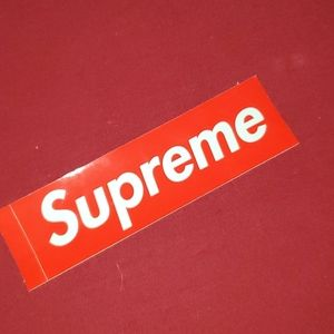 Authentic supreme sticker